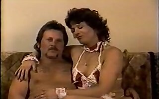 Amateur mature couple in their first vintage porn vid
