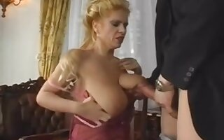 Huge Saggy Tits MILF Gets Young Cock