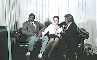 Fabulous Interracial, Brunette adult scene
