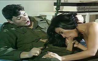 French Classic In Porn With A Brave Soldier Who Fucks Column Roughly